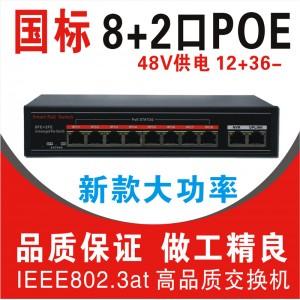 10(8+2)口国标内电POE交换机SPOE0802BN